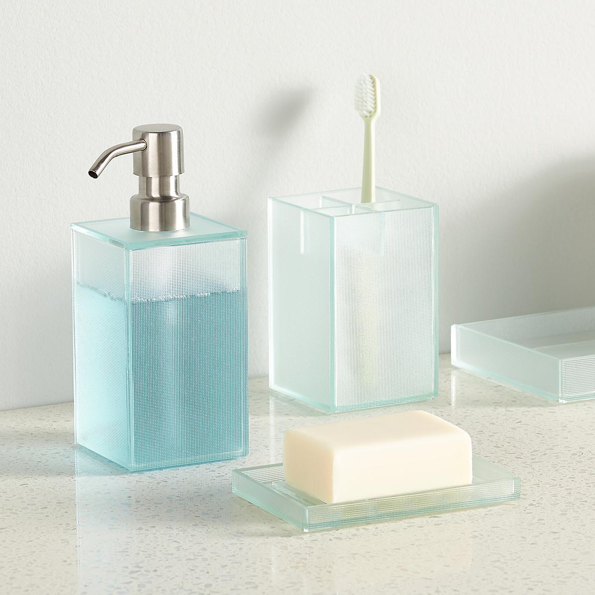 Dimpled Glass Bathroom Set