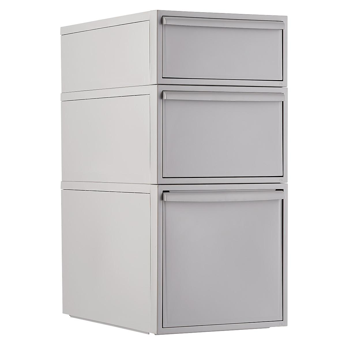 Like-it Light Grey Stackable Drawers