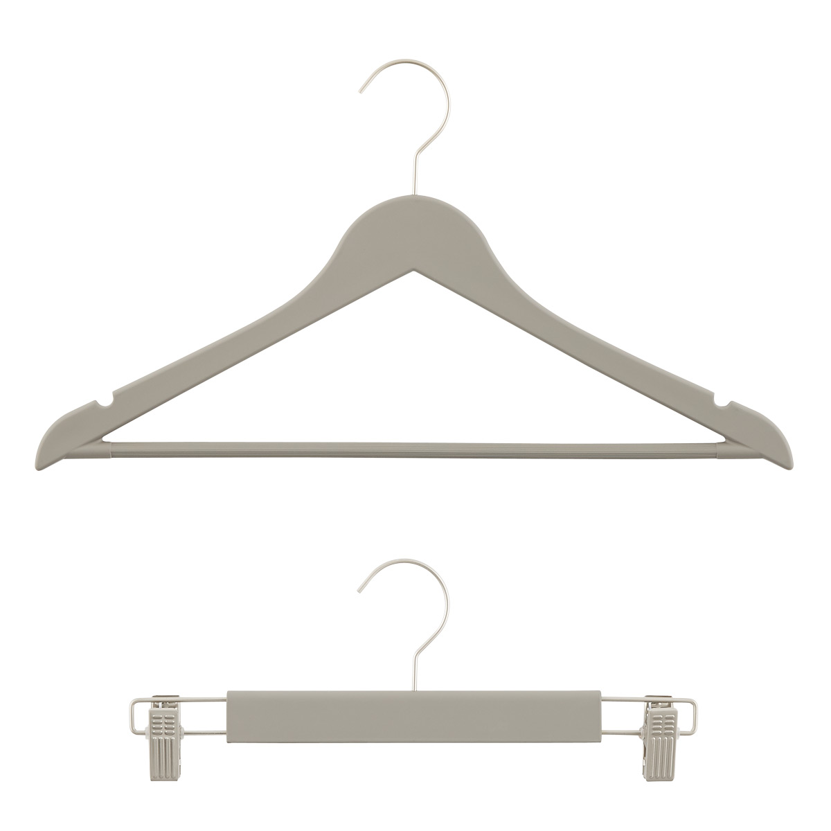 Grey Premium Rubberized Hangers
