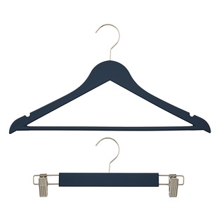 Navy Premium Rubberized Hangers