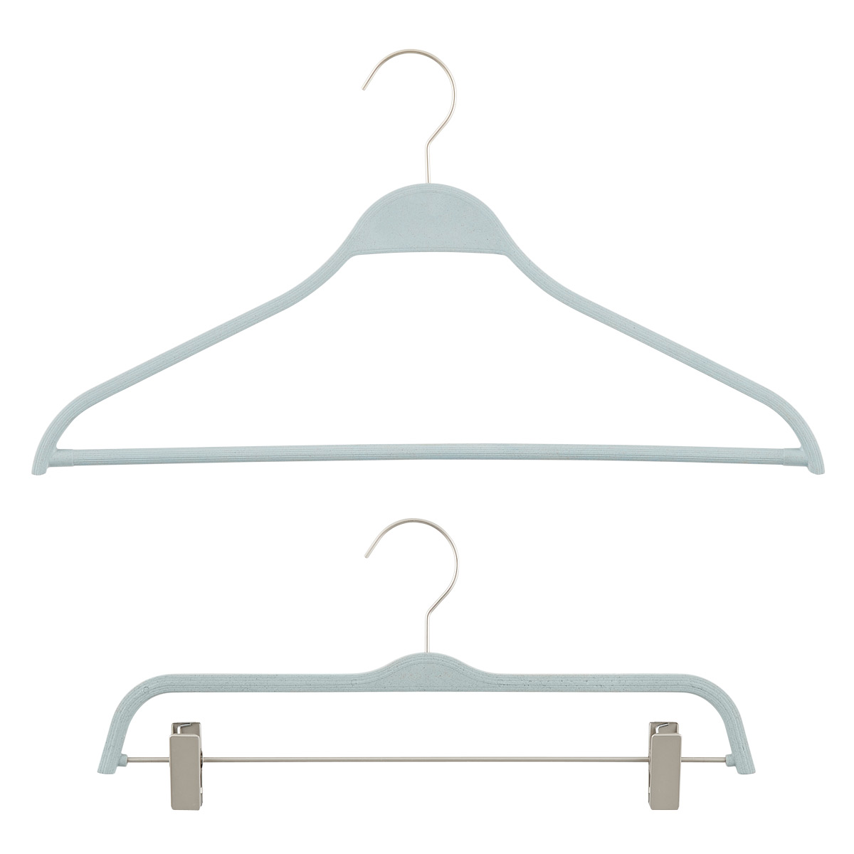 Steel Blue Eco-Plastic Hangers