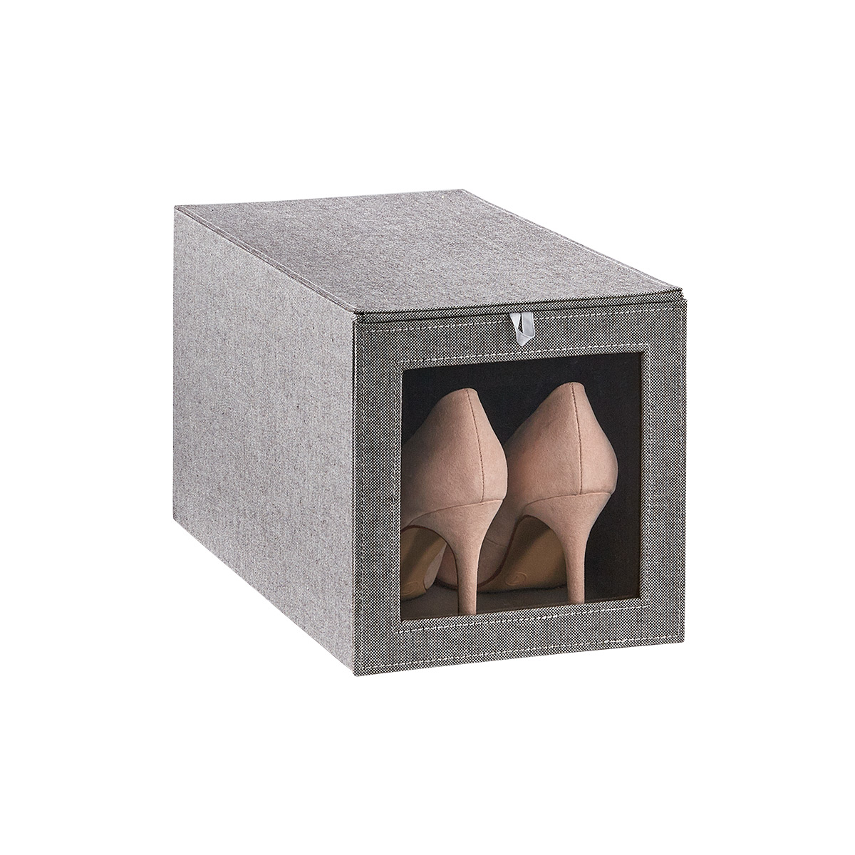Cambridge Grey Tall Drop-Front Shoe Box