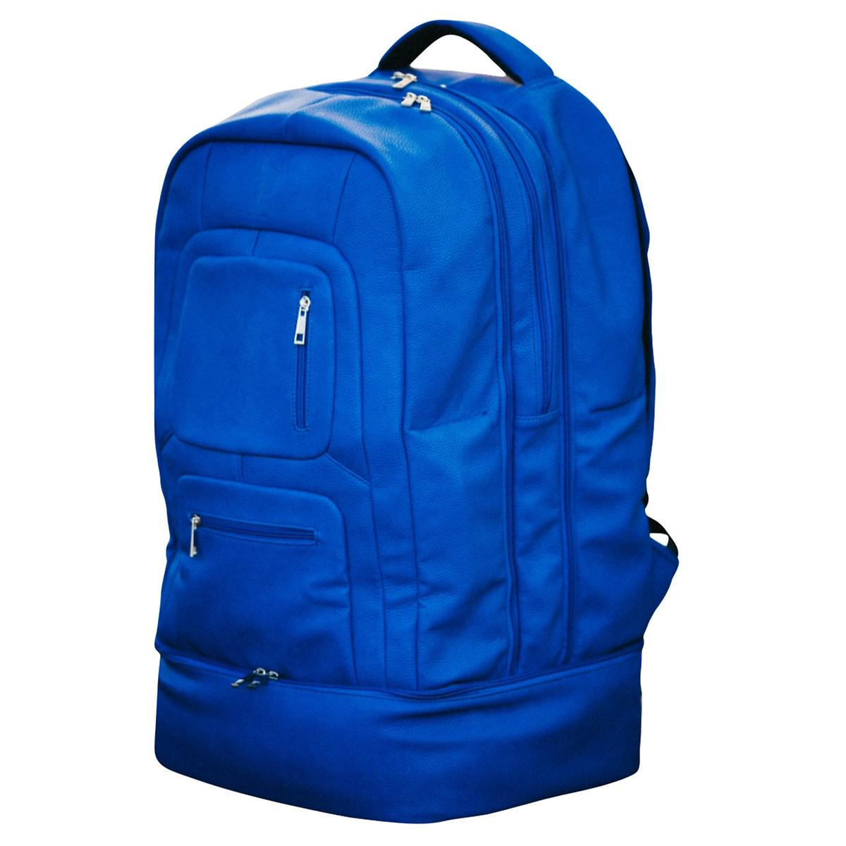 Sole Premise Blue Leather Shoe Backpack
