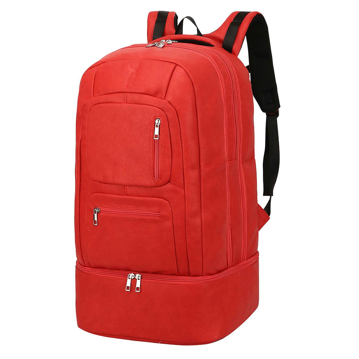 Sole Premise Red Leather Shoe Backpack