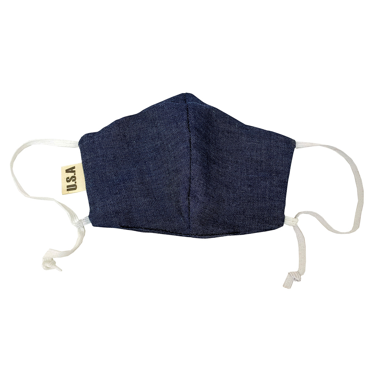 Steele Canvas Dark Blue Chambray Face Mask