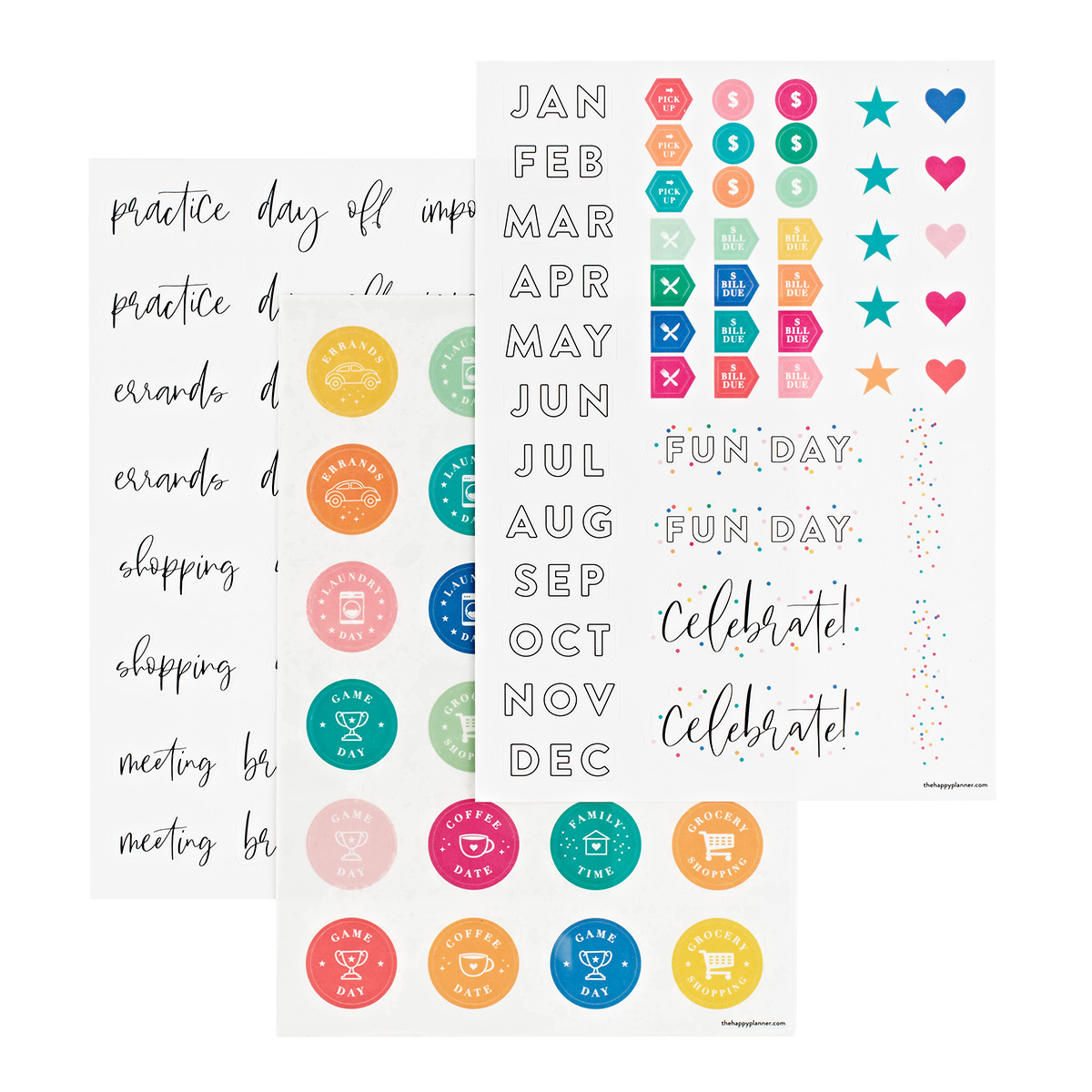 Removable Calendar Reminder Symbol Decals