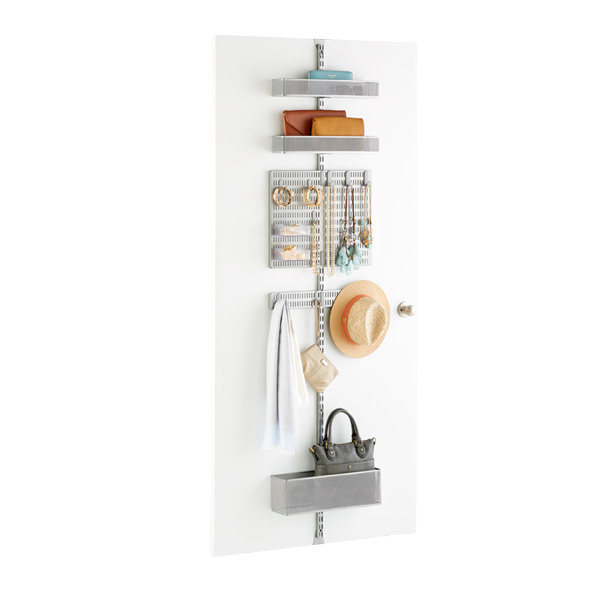 Elfa Platinum Utility Mesh Closet Over the Door Rack Solution