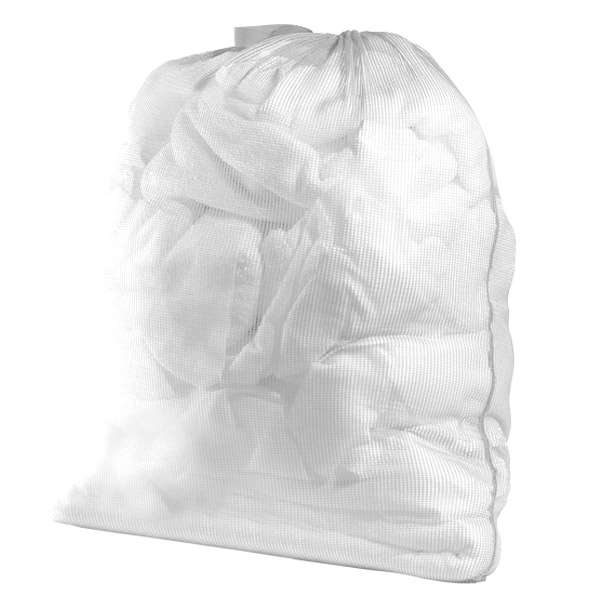 White Mesh Laundry Bag