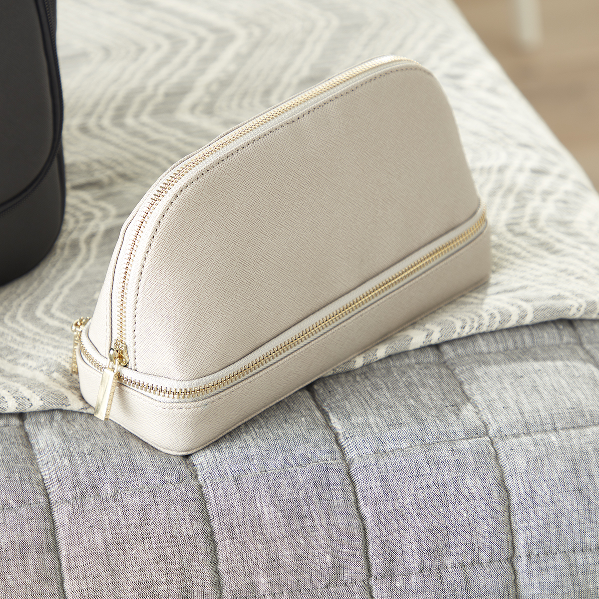 Stackers Taupe Makeup Travel Case