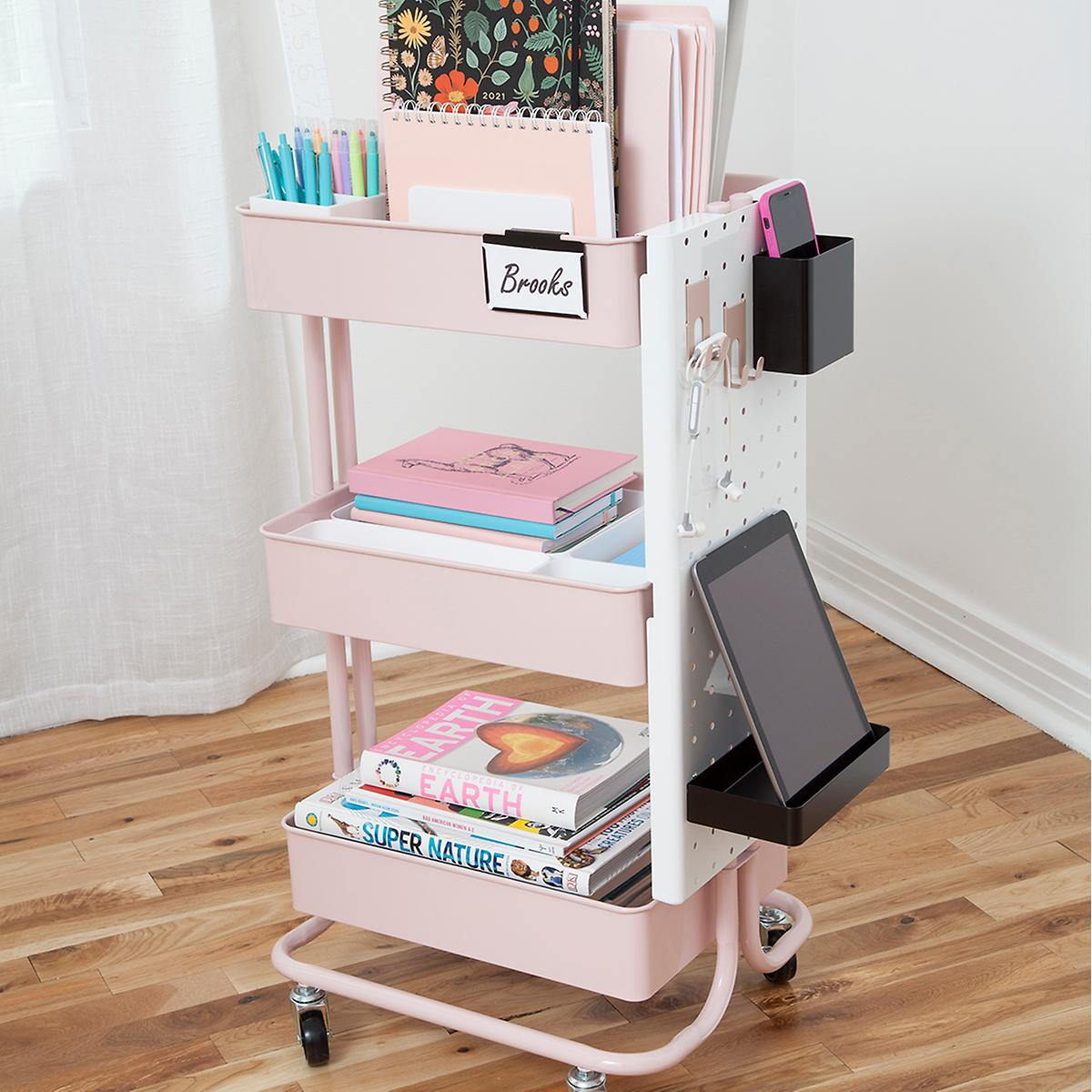 Home Learning Blush 3-Tier Cart Starter Kit