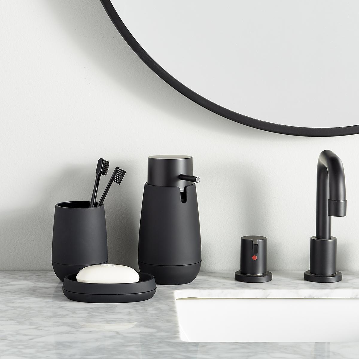 Matte Black Countertop Bathroom Set
