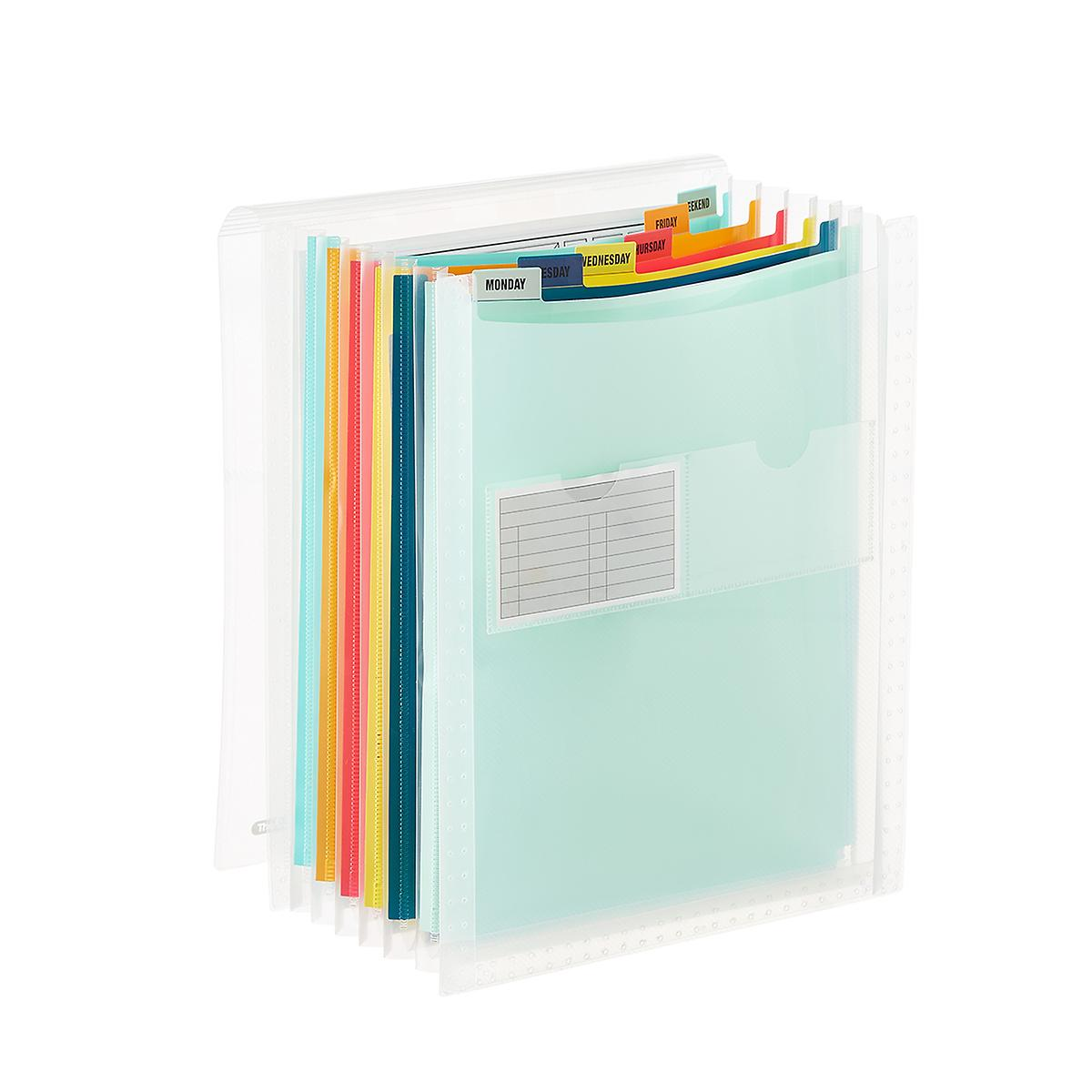 Rainbow 7-Pocket Accordion Letter File