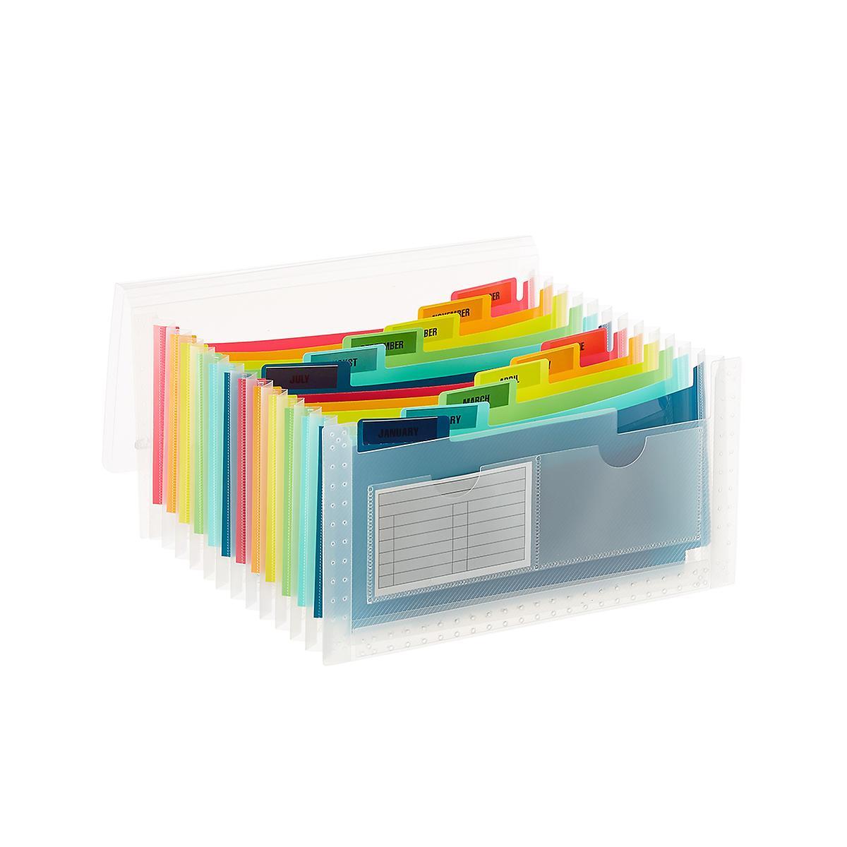 Multi-Color 13-Pocket Accordion Receipt File