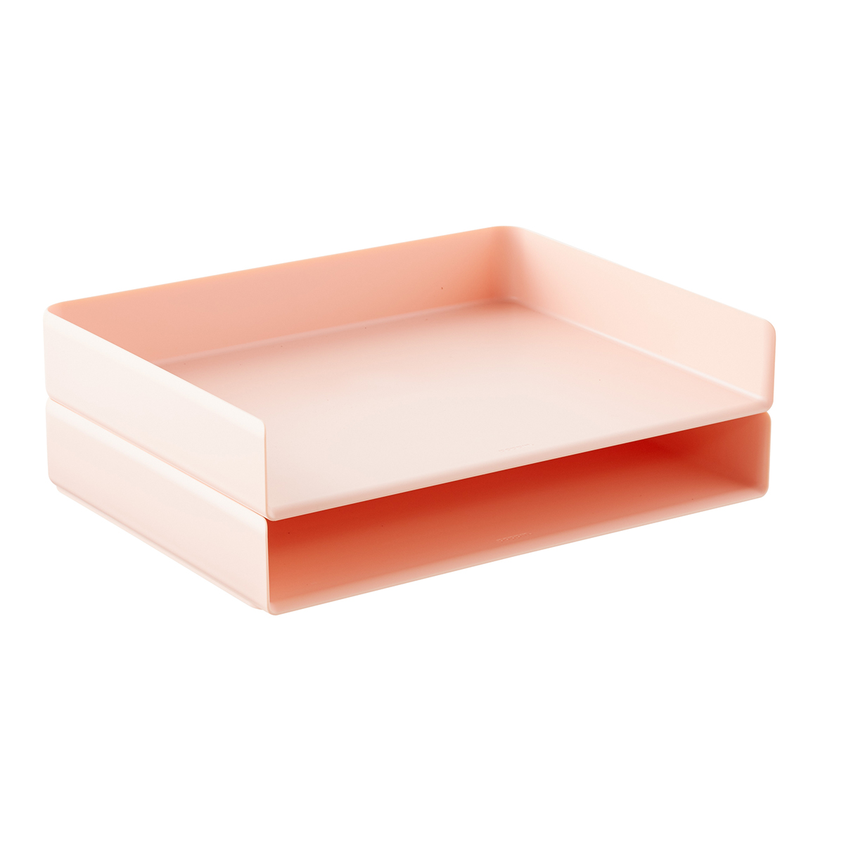 Blush Poppin Stackable Landscape Letter Tray