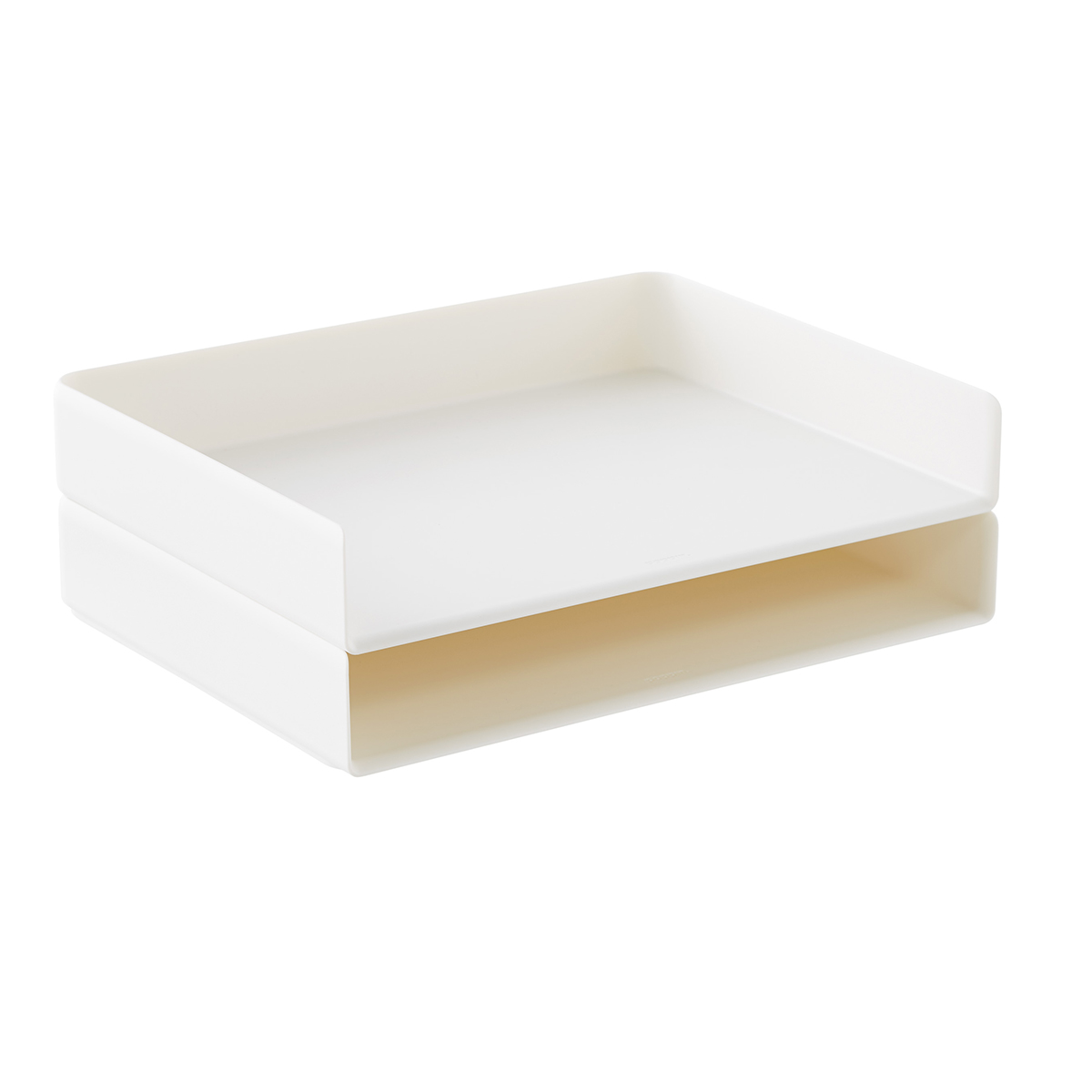 White Poppin Stackable Landscape Letter Tray