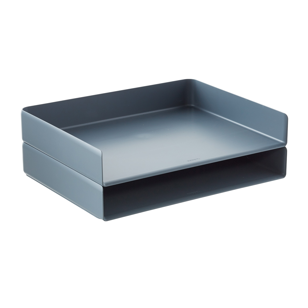 Dark Grey Poppin Stackable Landscape Letter Tray