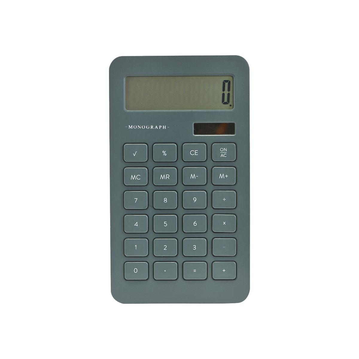 Monograph Dusty Green Calculator