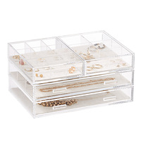 Modular Acrylic Linen Jewelry Drawer System