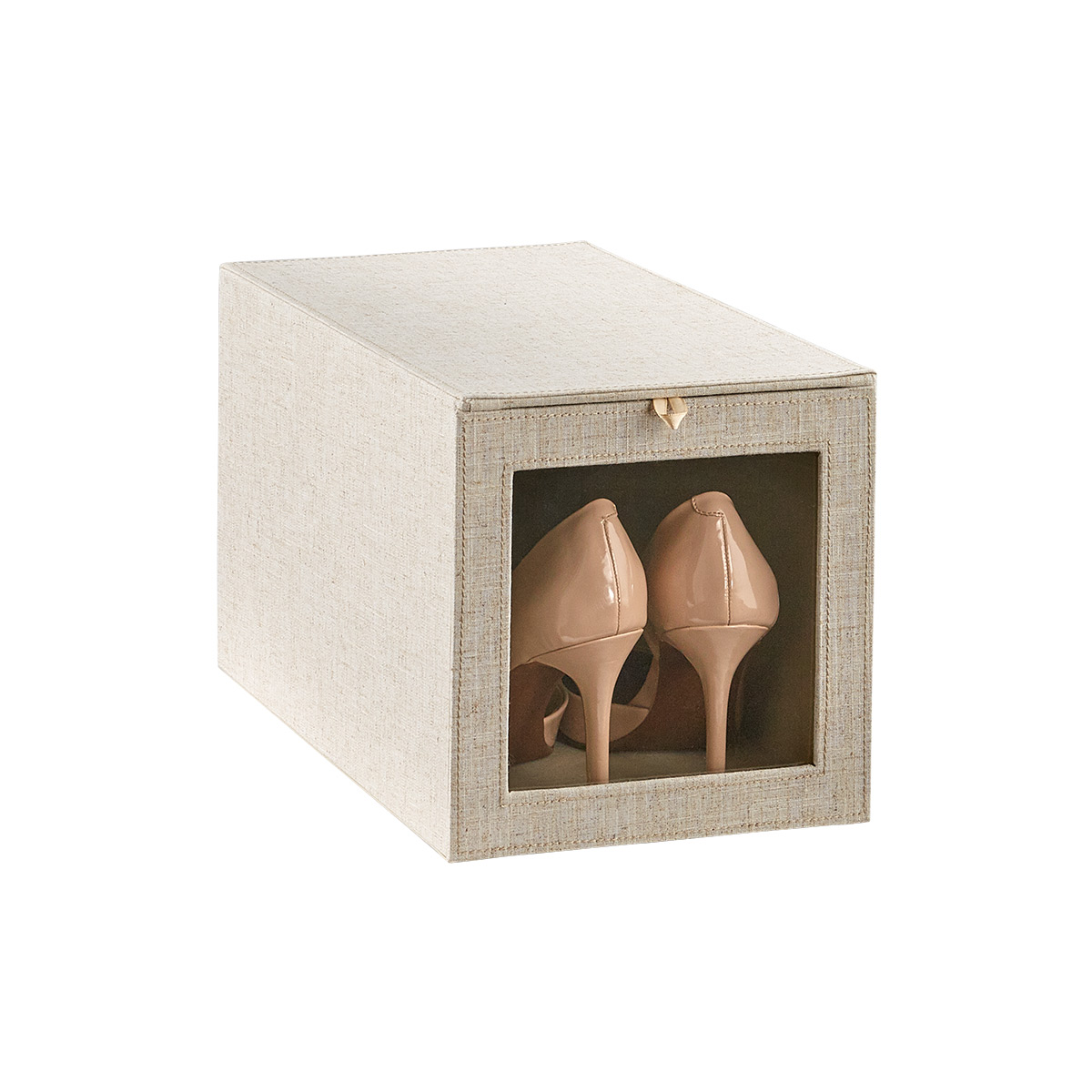 Cambridge Linen Tall Drop-Front Shoe Box