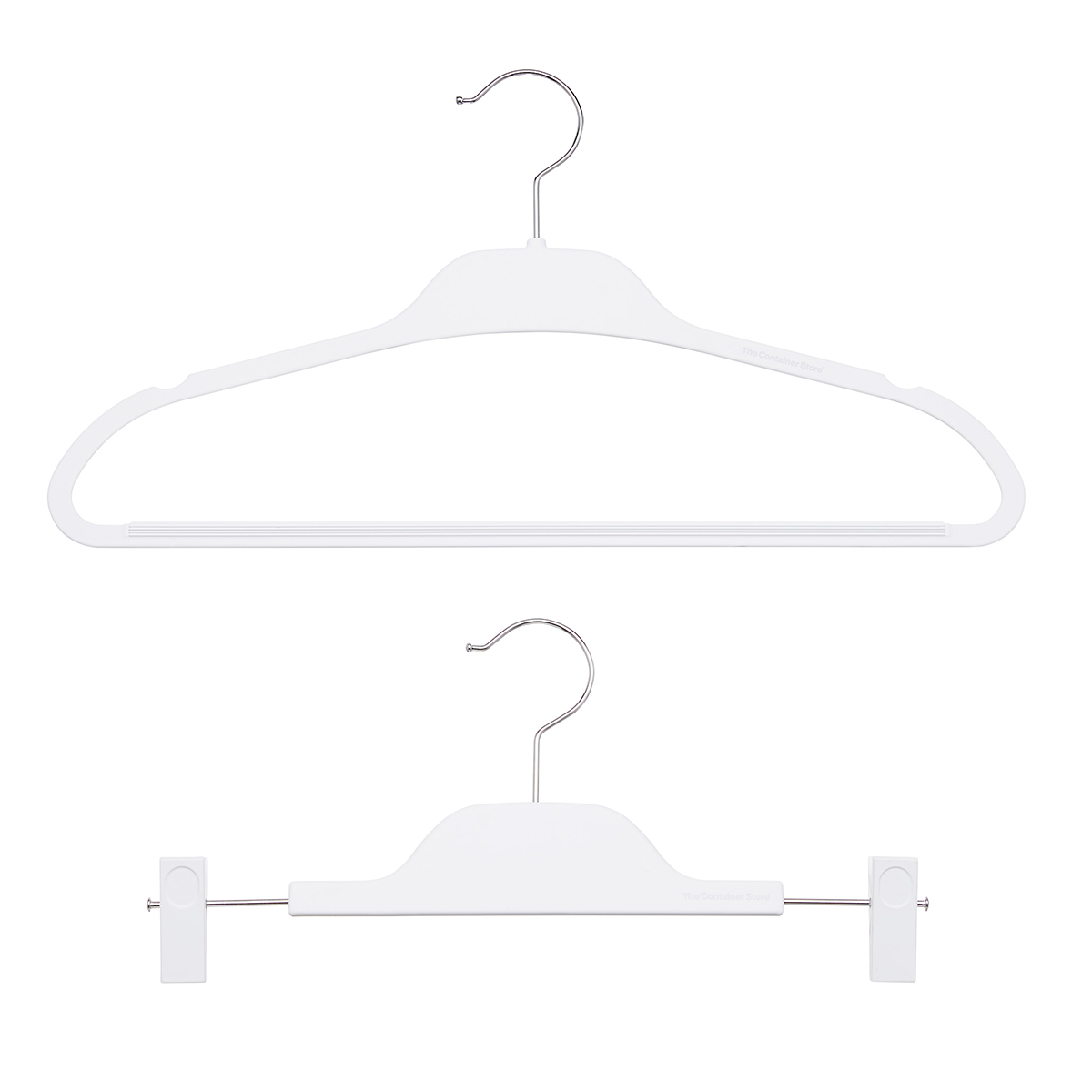 White Non-Slip Rubberized Hangers
