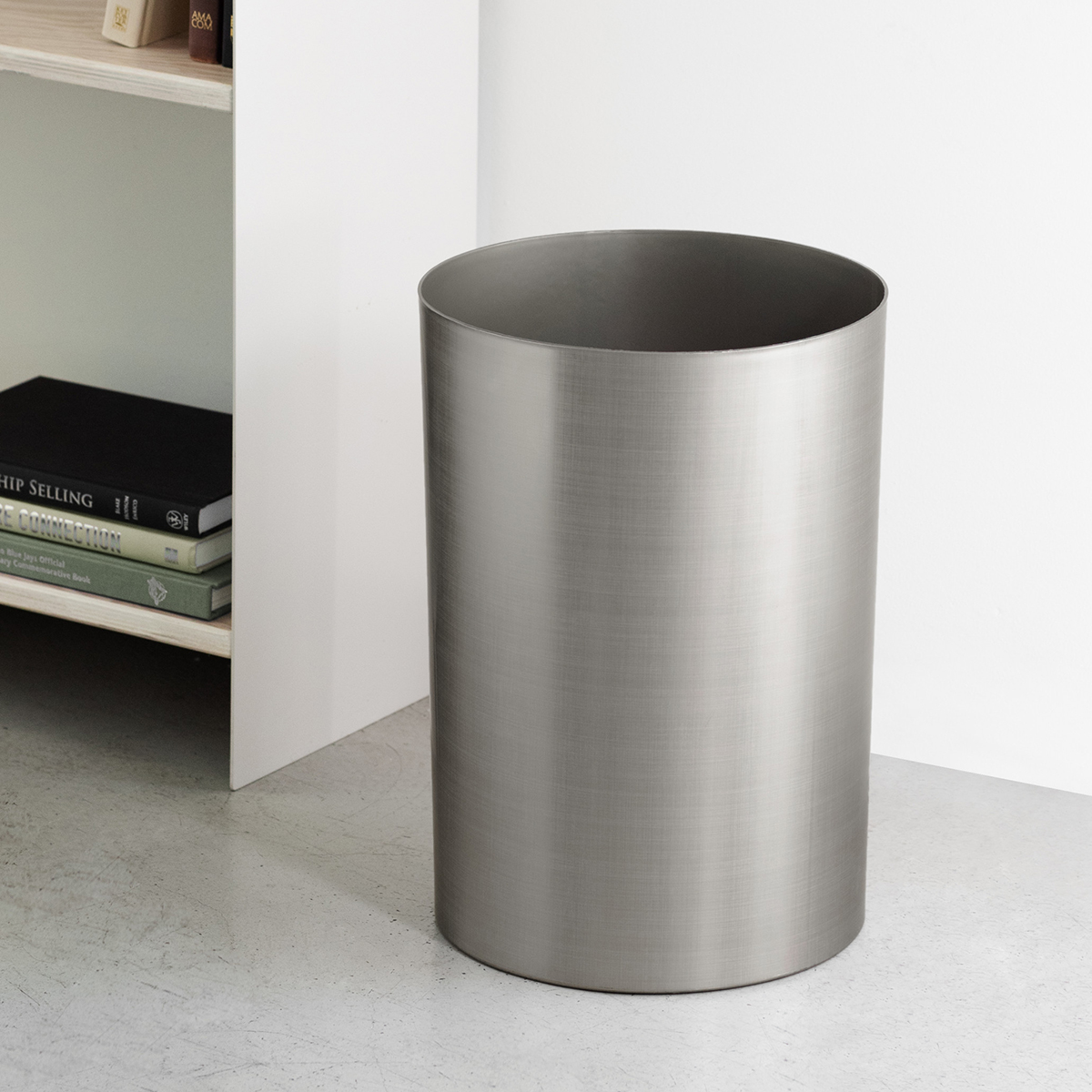 Umbra Gunmetal Metalla Trash Can