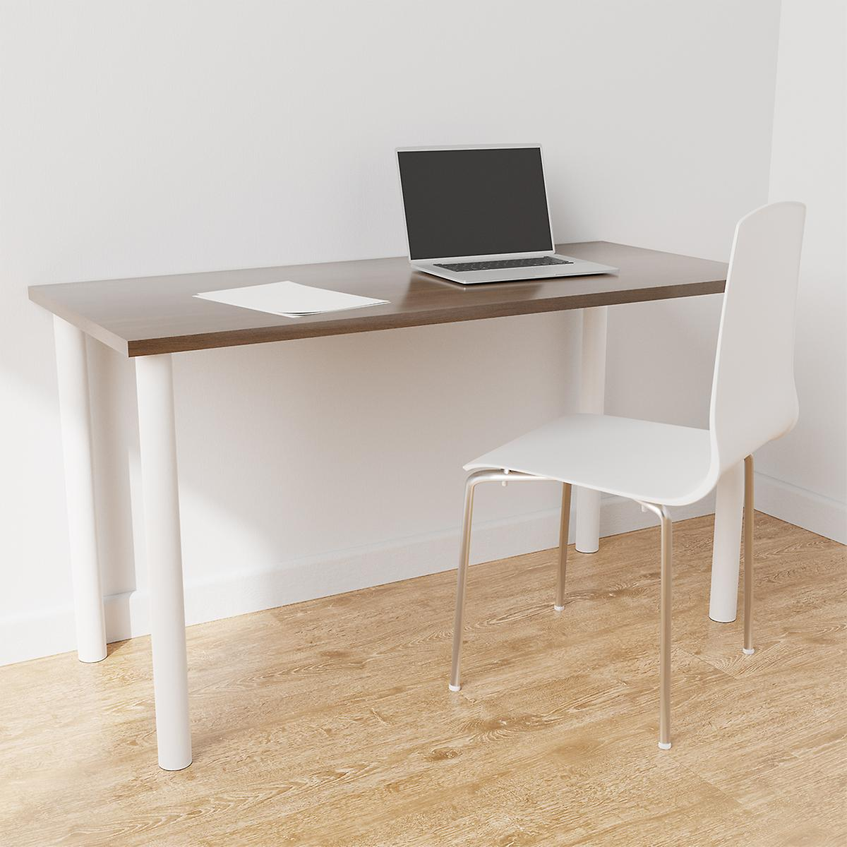 Elfa White & Driftwood Desk