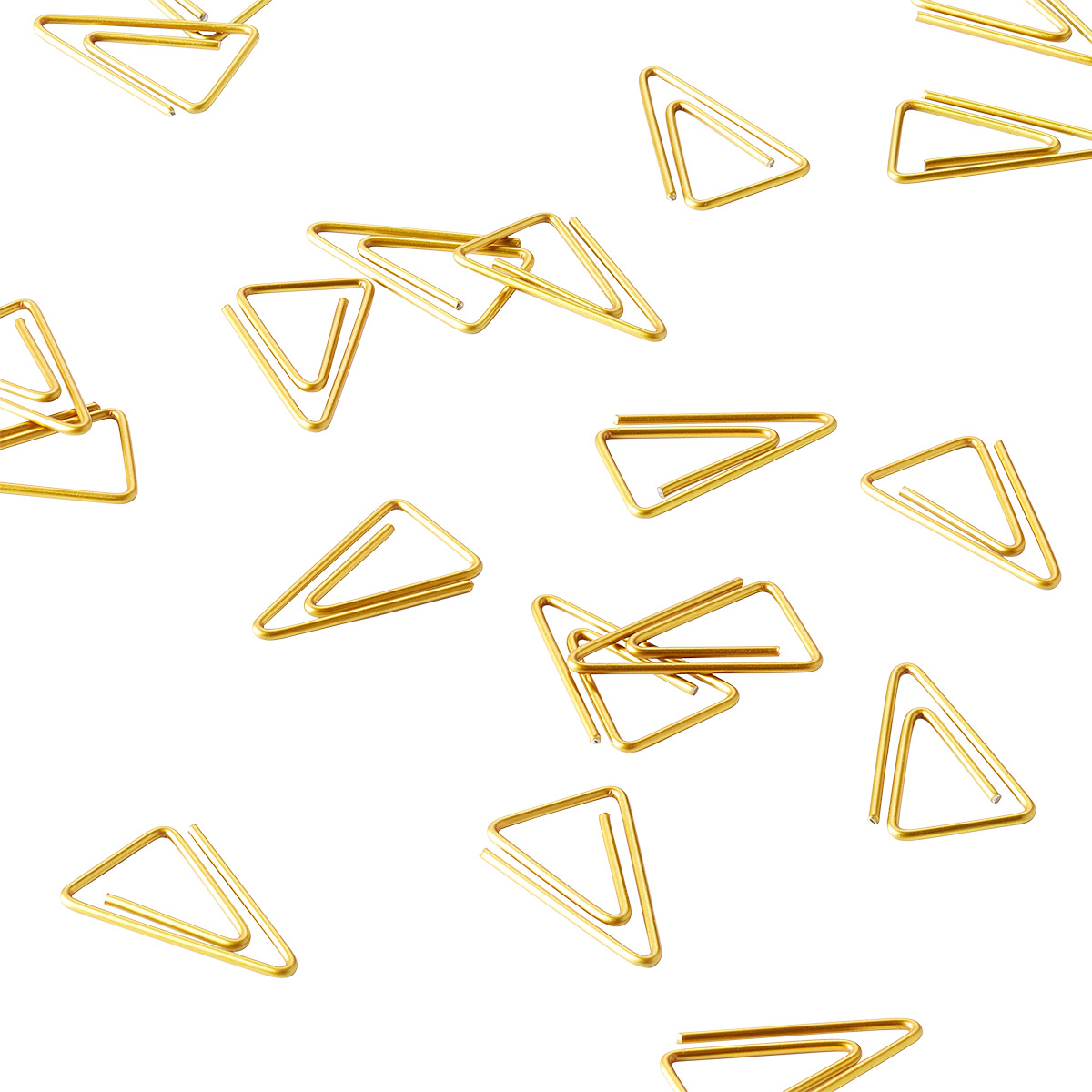 Monograph Brass Triangle Paperclips