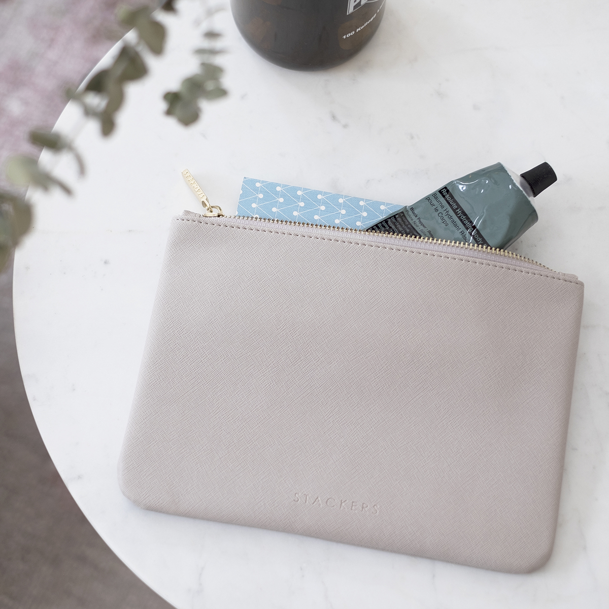 Stackers Taupe Pouch