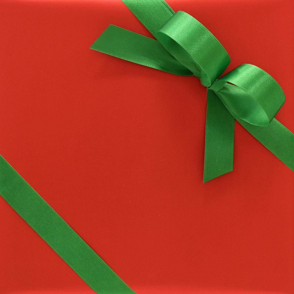 Metallic Red Matte Wrapping Paper