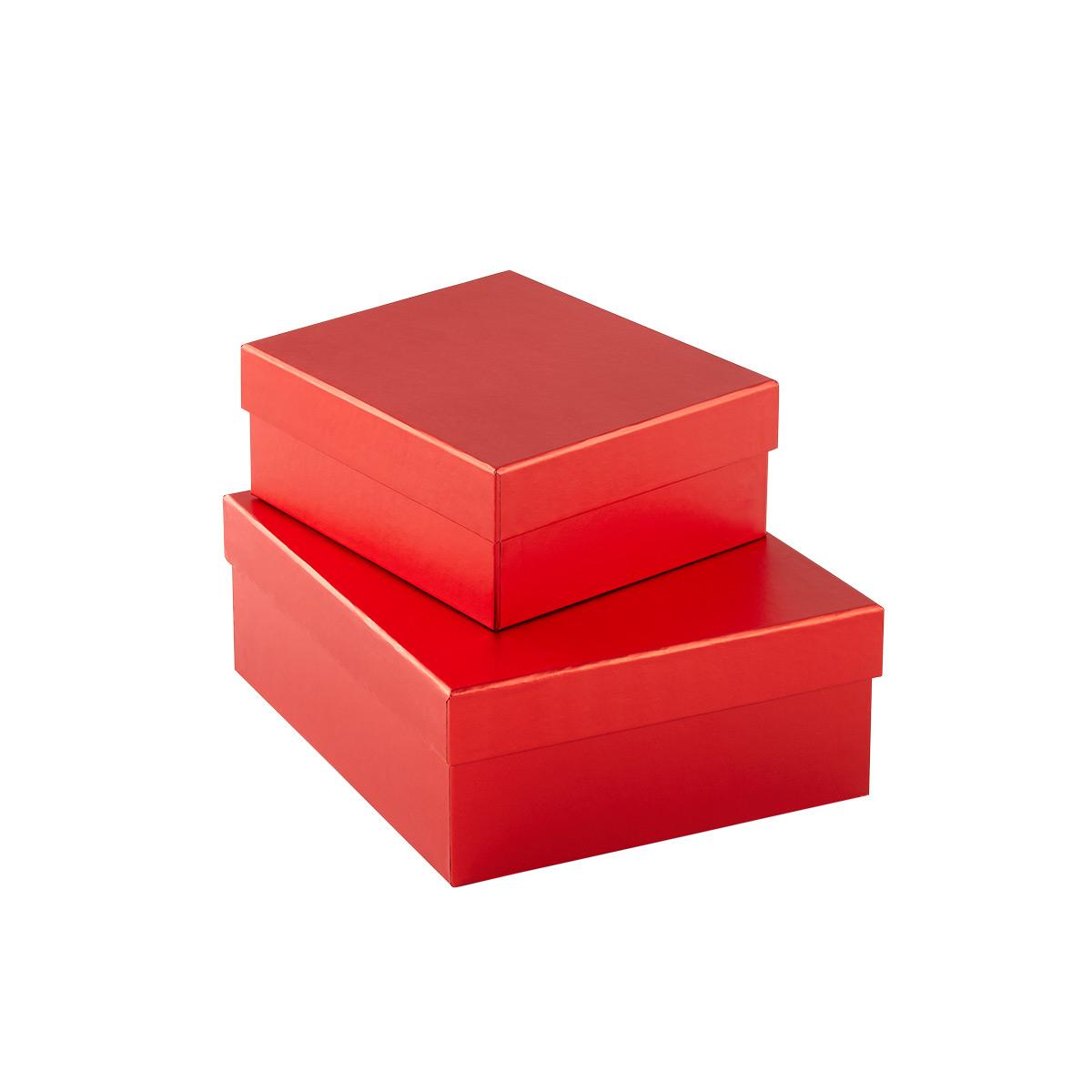 Metallic Red Gift Boxes