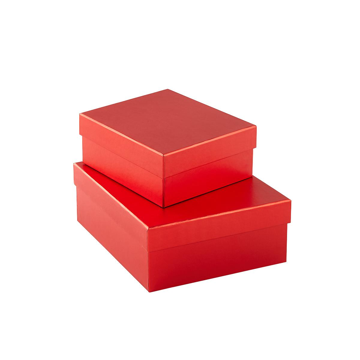 Metallic Red Gift Boxes
