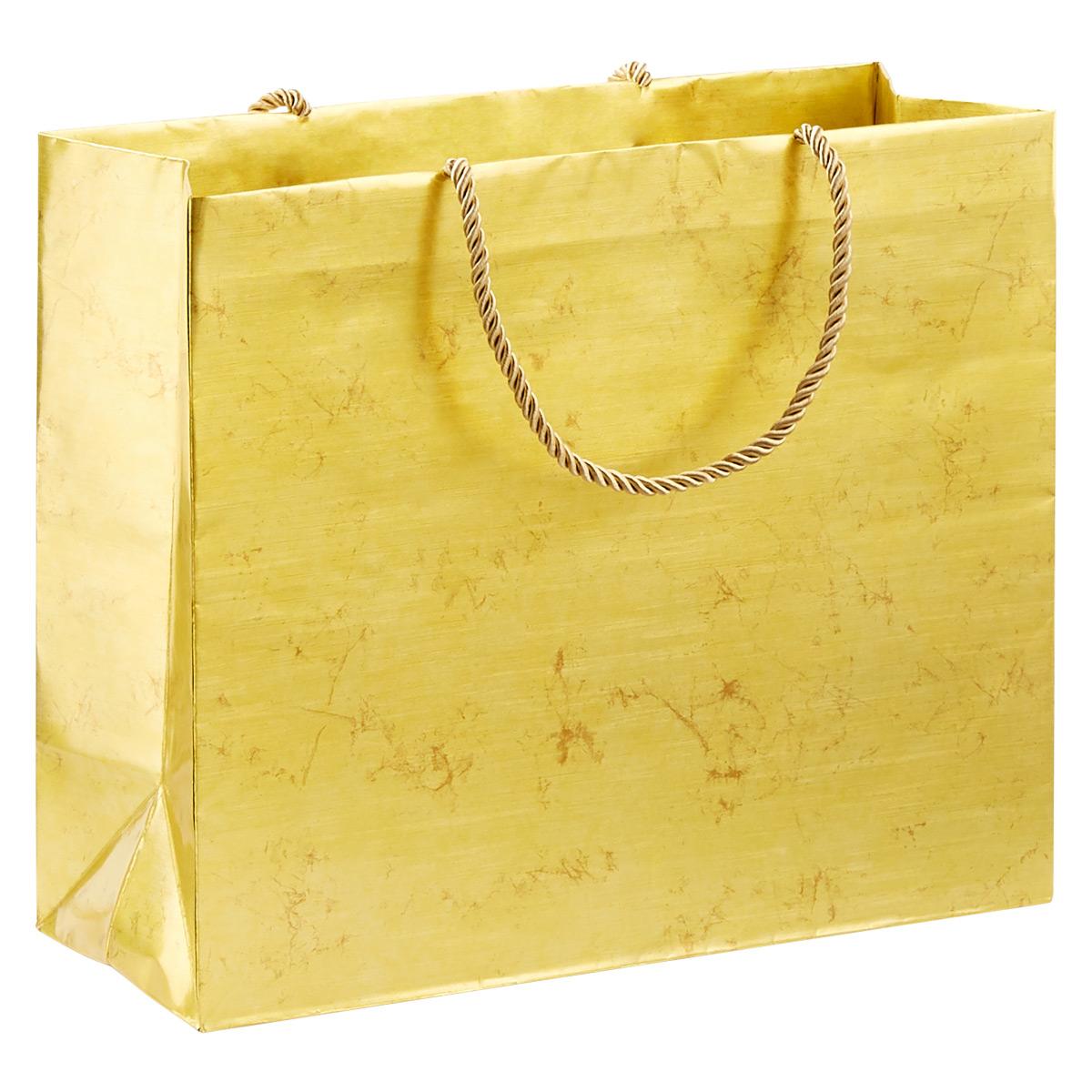 Antique Gold Large Gift Bag