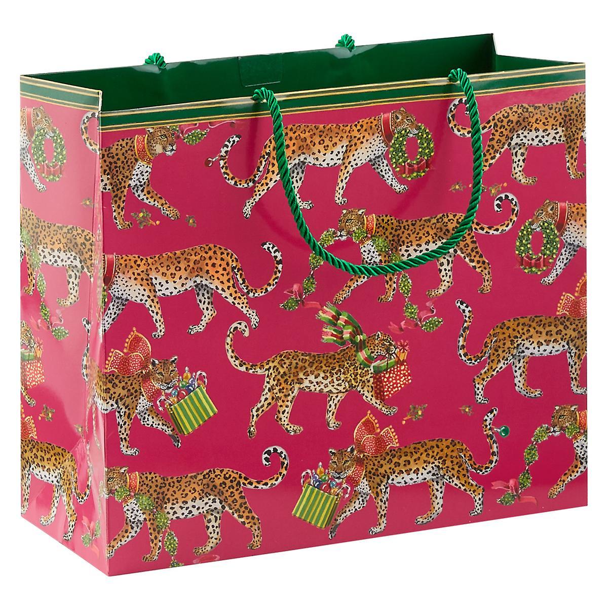 Christmas Leopards Large Gift Bag