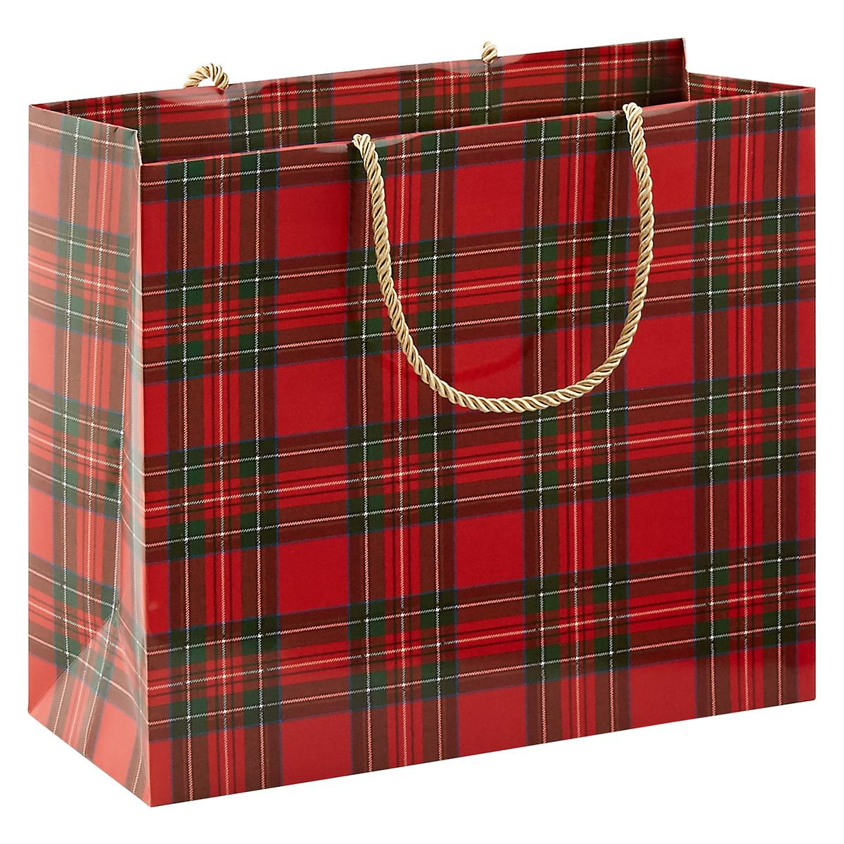 Royal Plaid Large Gift Bag