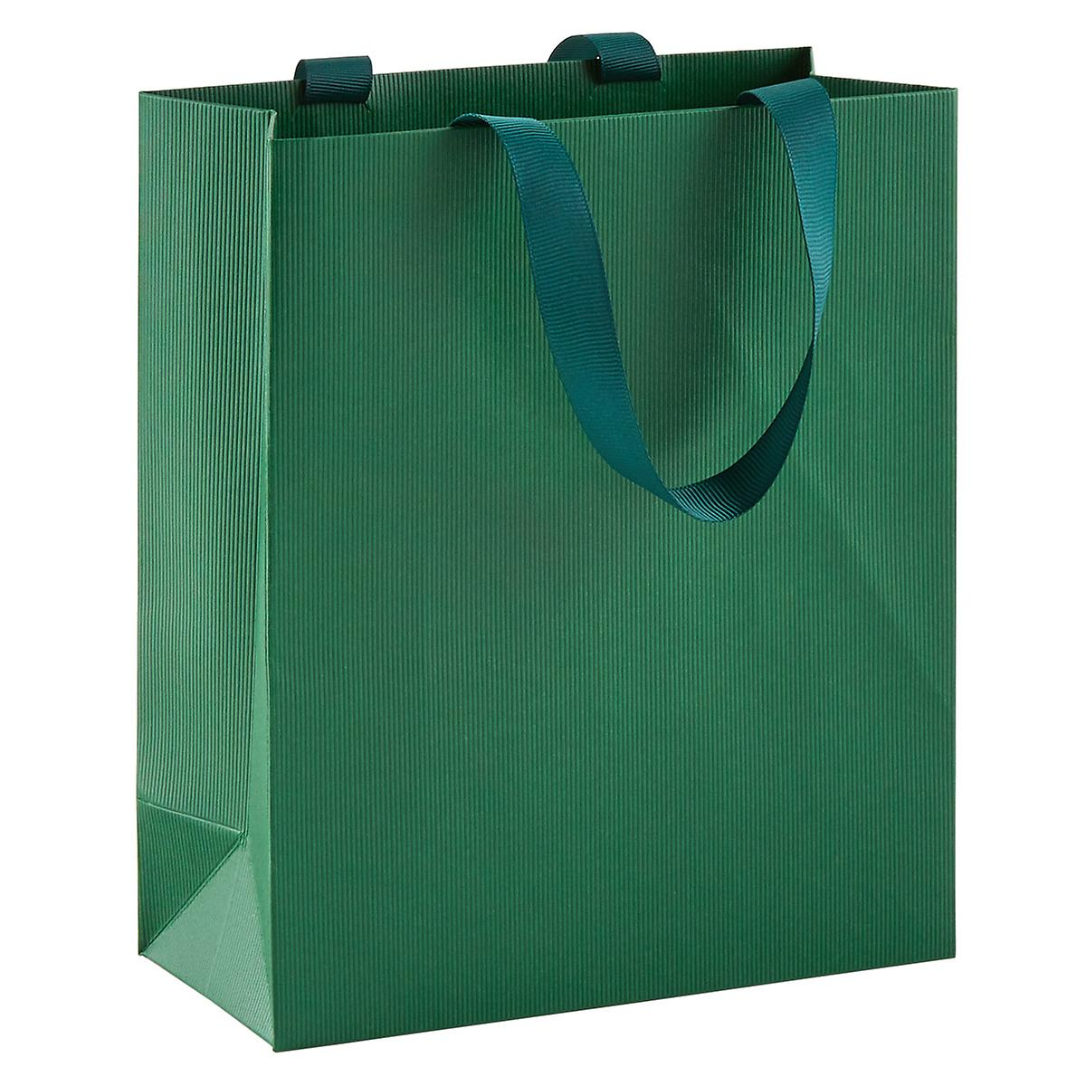 Solid Flat Green Small Gift Bag