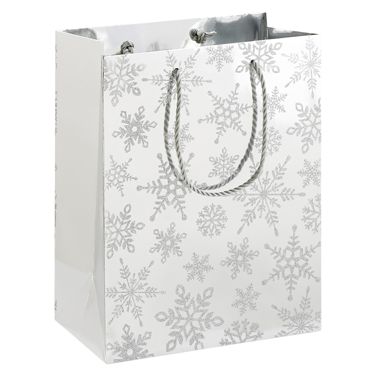 Papyrus Luxe Silver Snowflakes Large Gift Bag