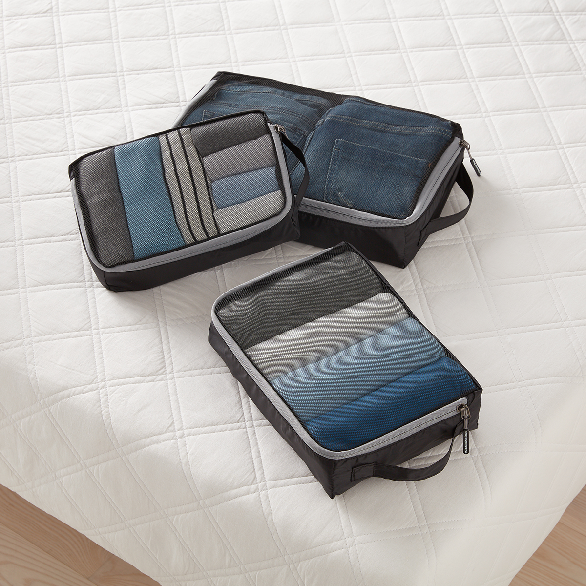 Black Packing Cubes Set of 3
