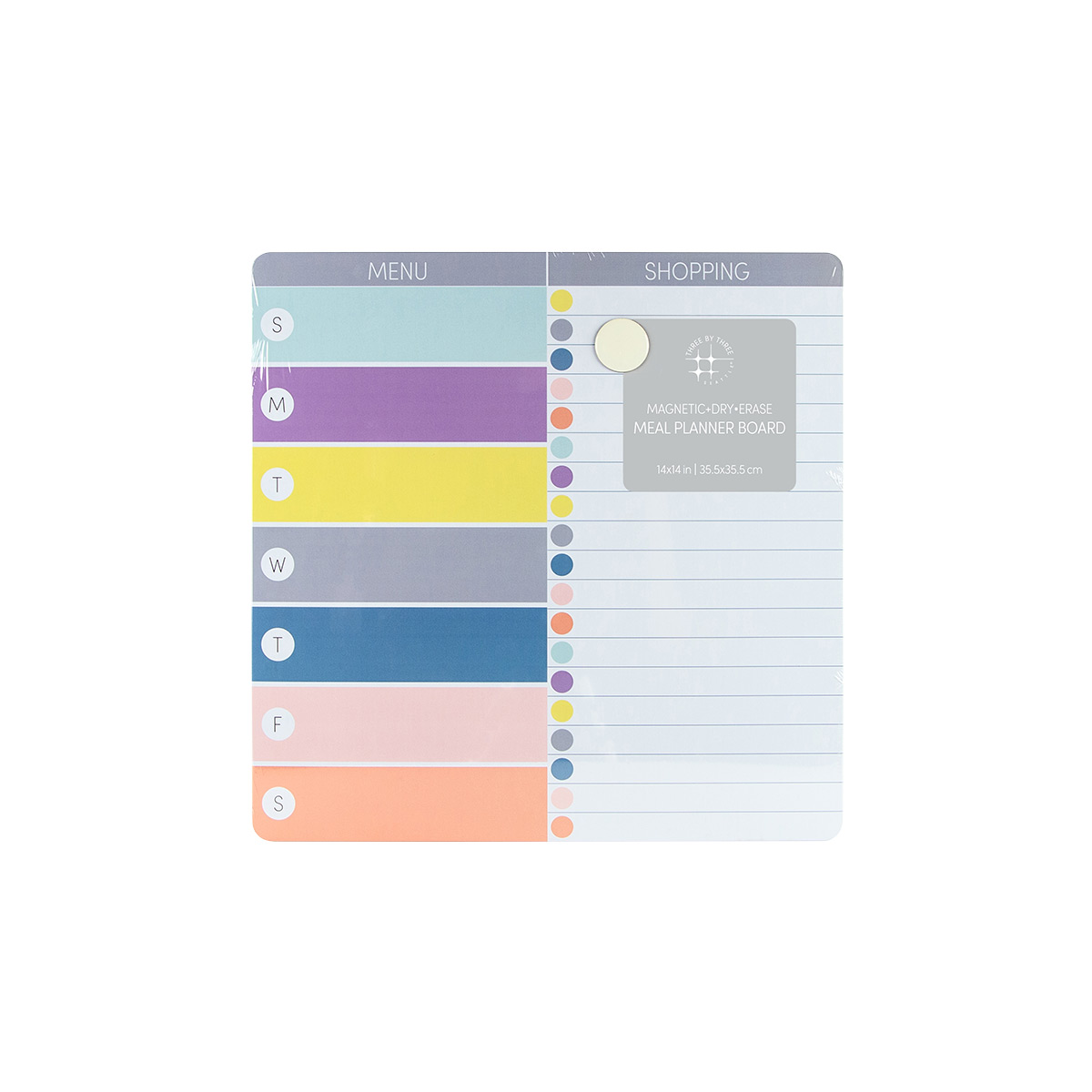 Meal Planning Dry Erase Board