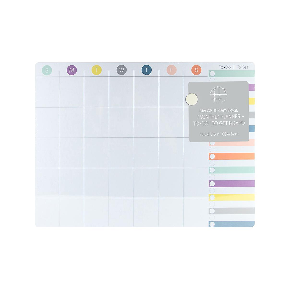 U-Brands Multicolor Large Farmhouse Monthly Dry Erase Board
