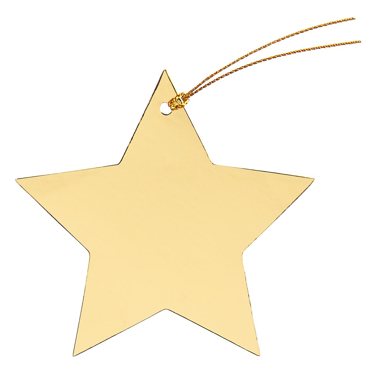 Gold Foil Star Gift Tags