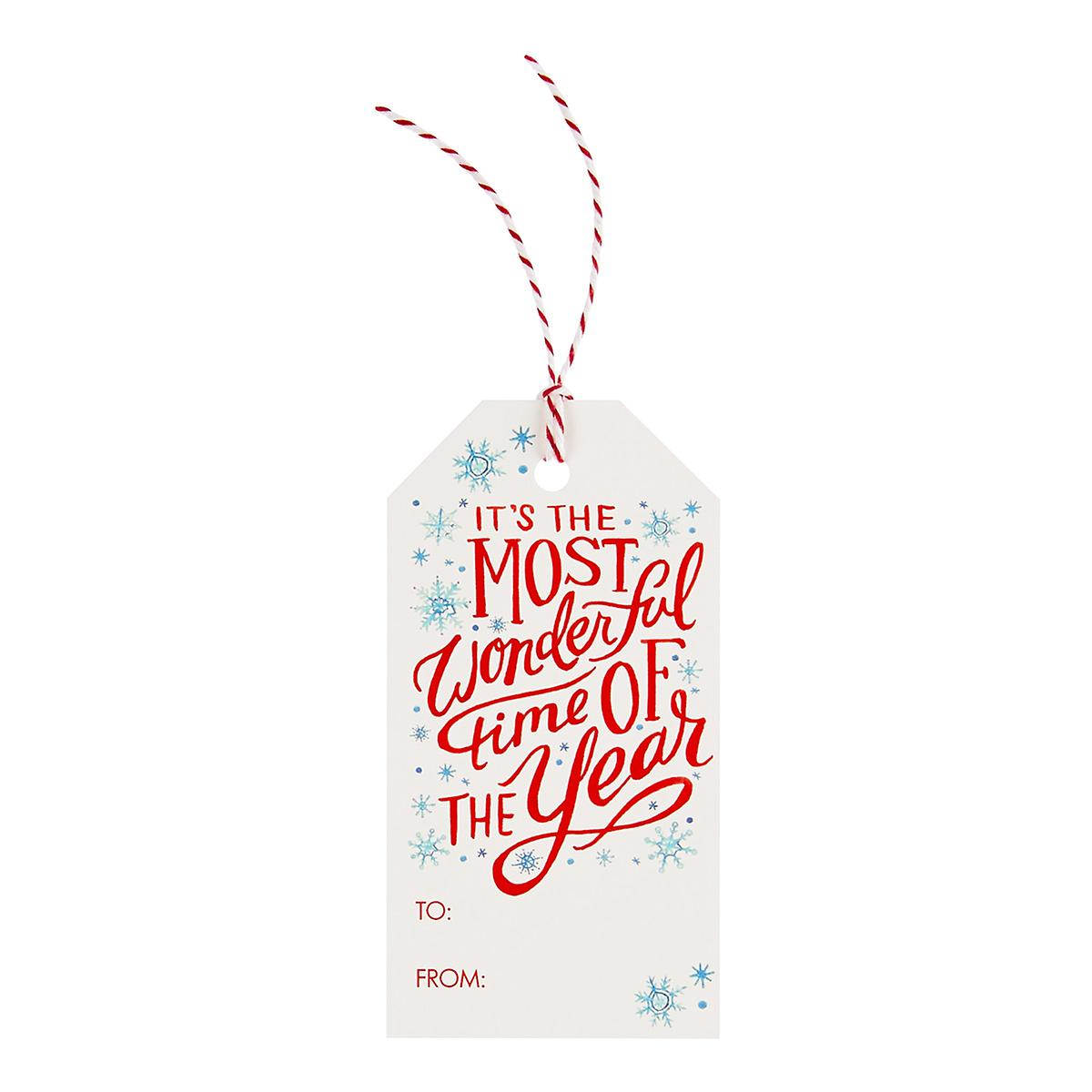 Wonderful Time & Snow Gift Tags Pack of 10