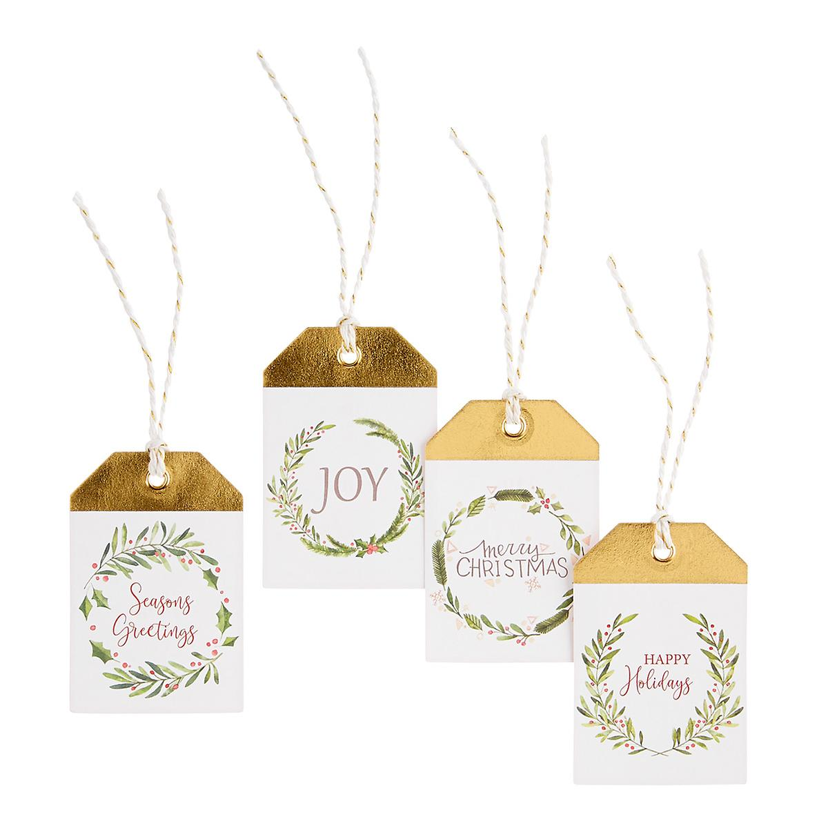 Floral Wreath Gift Tags