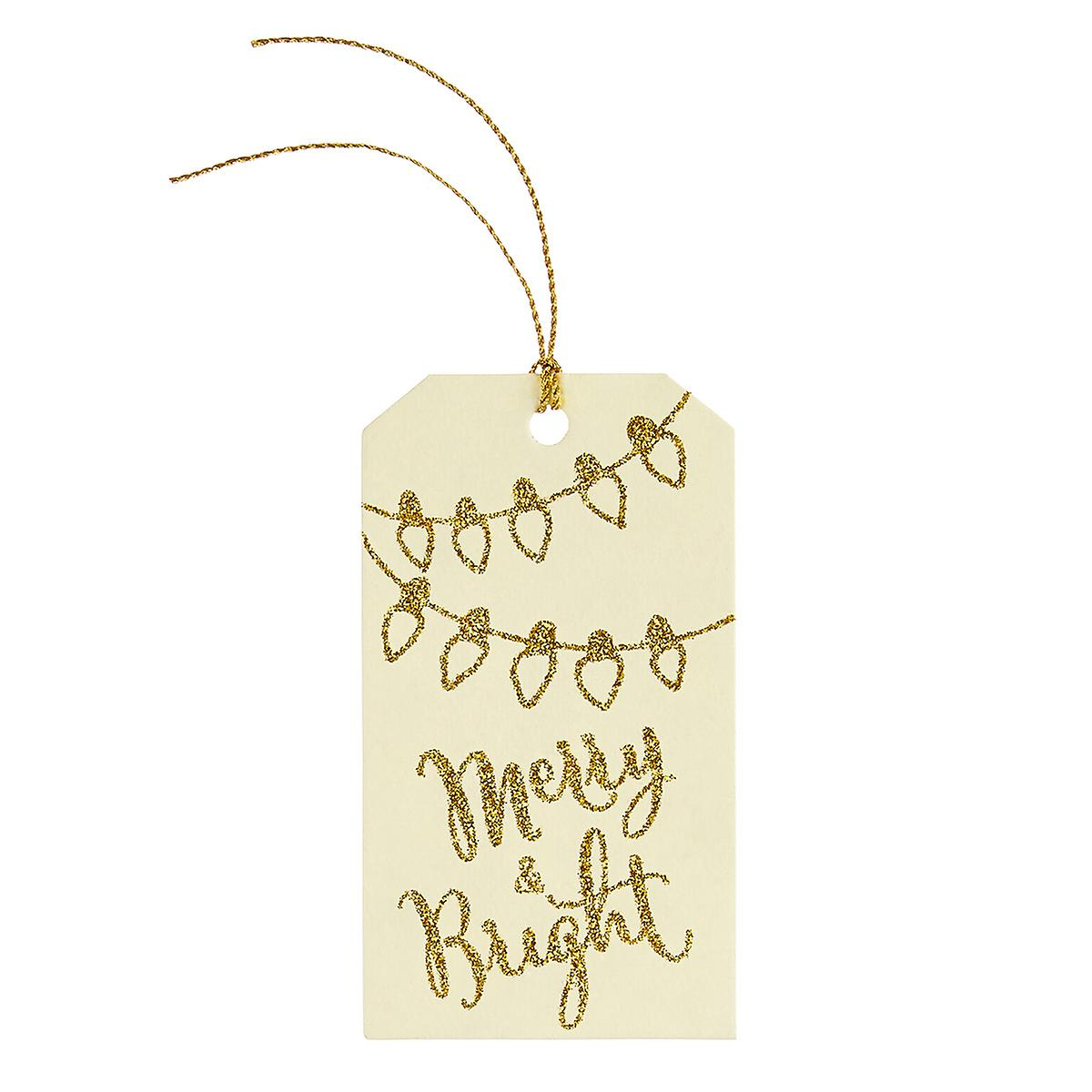 Merry & Bright Gift Tags Set of 5
