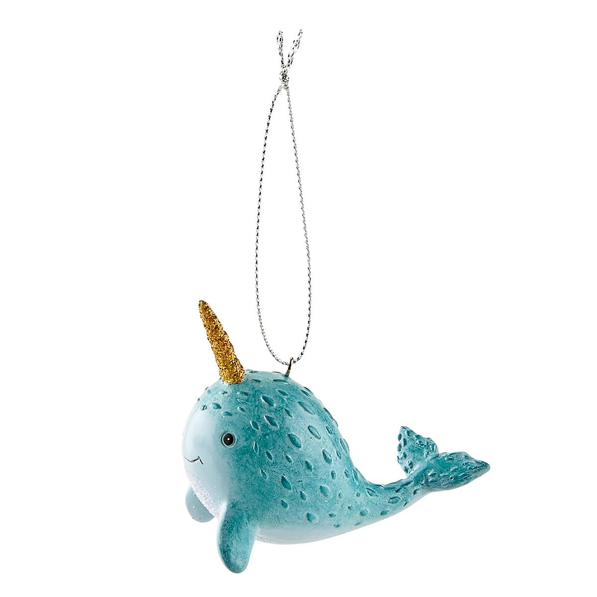 Narwhal Tie-On Ornament