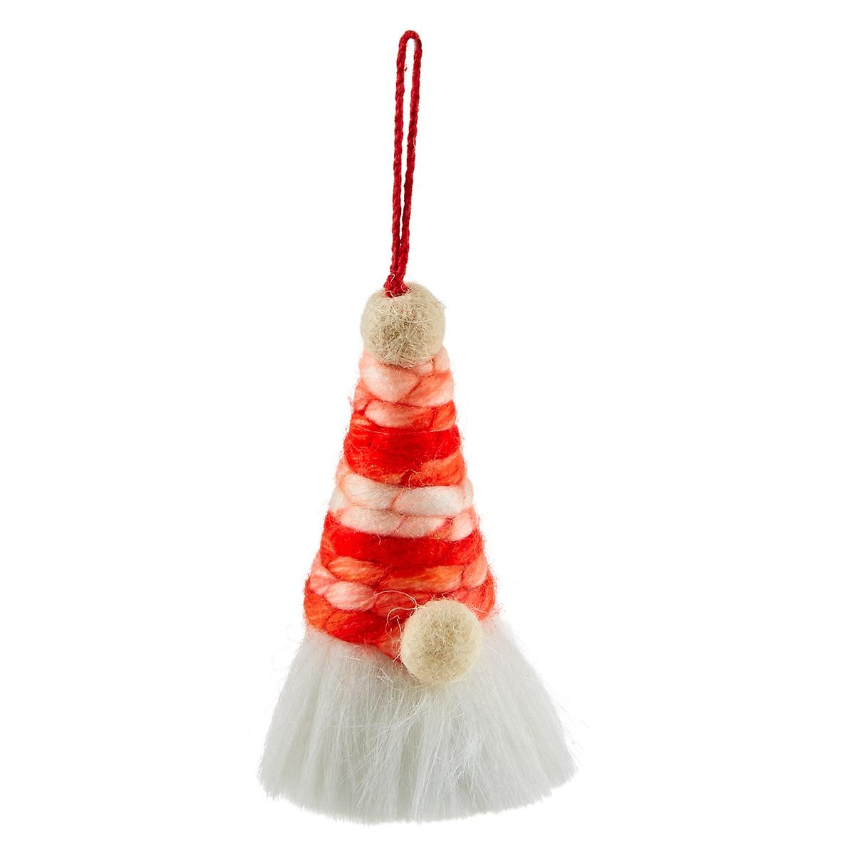 Red Yarn Gnome Tie-On Ornament