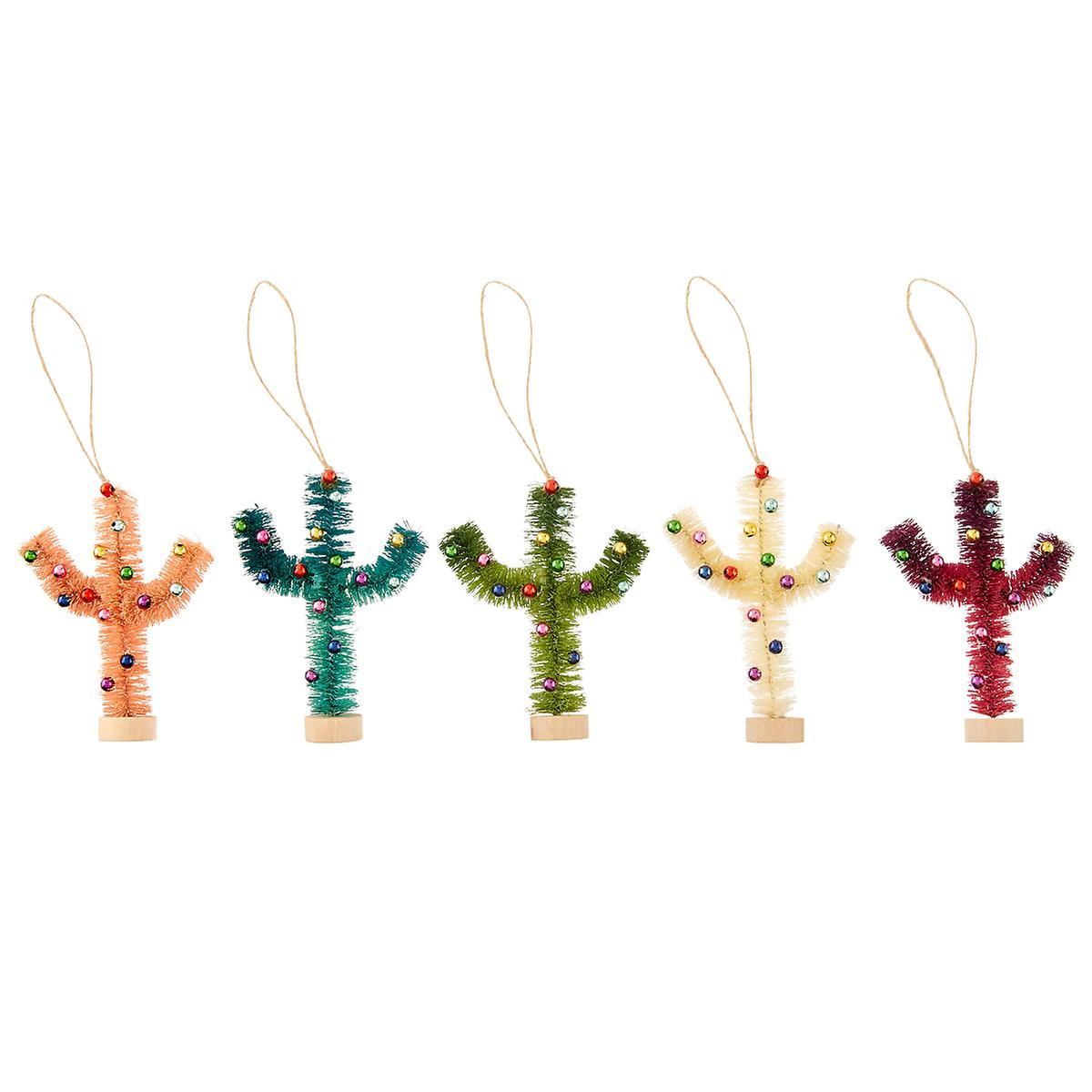Colorful Cactus Tie-On Ornament