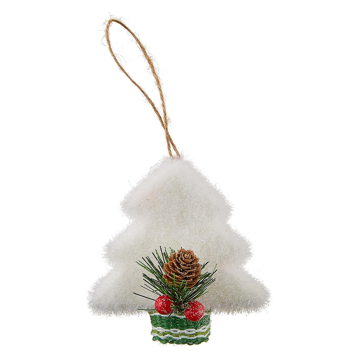 Christmas Tree with Holly Tie-On Ornament
