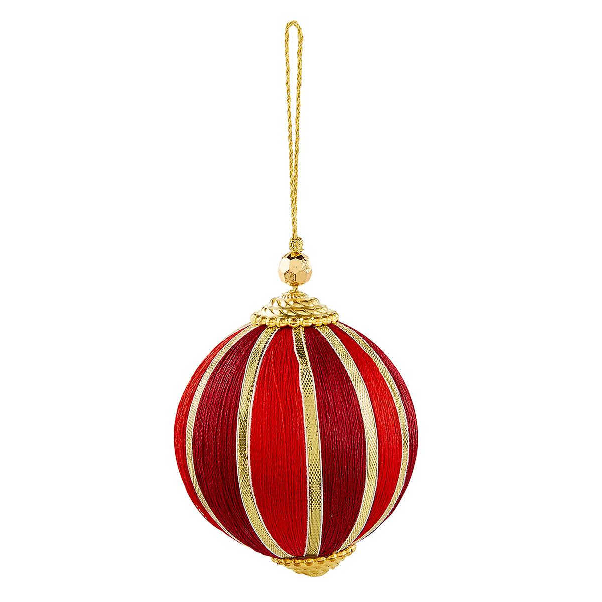 Red & Gold Ball Tie-On Ornament