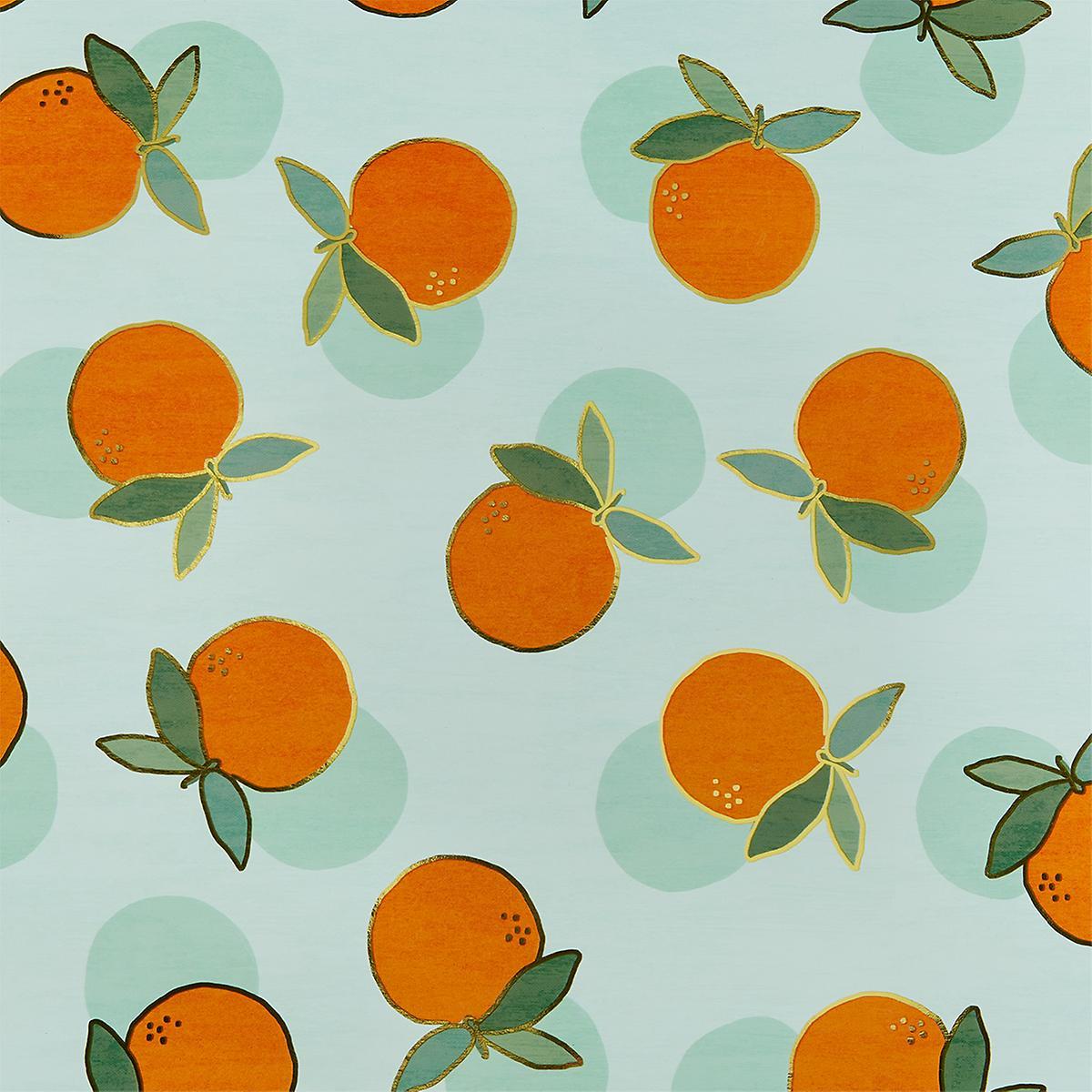 Orange Crush Foil Wrapping Paper
