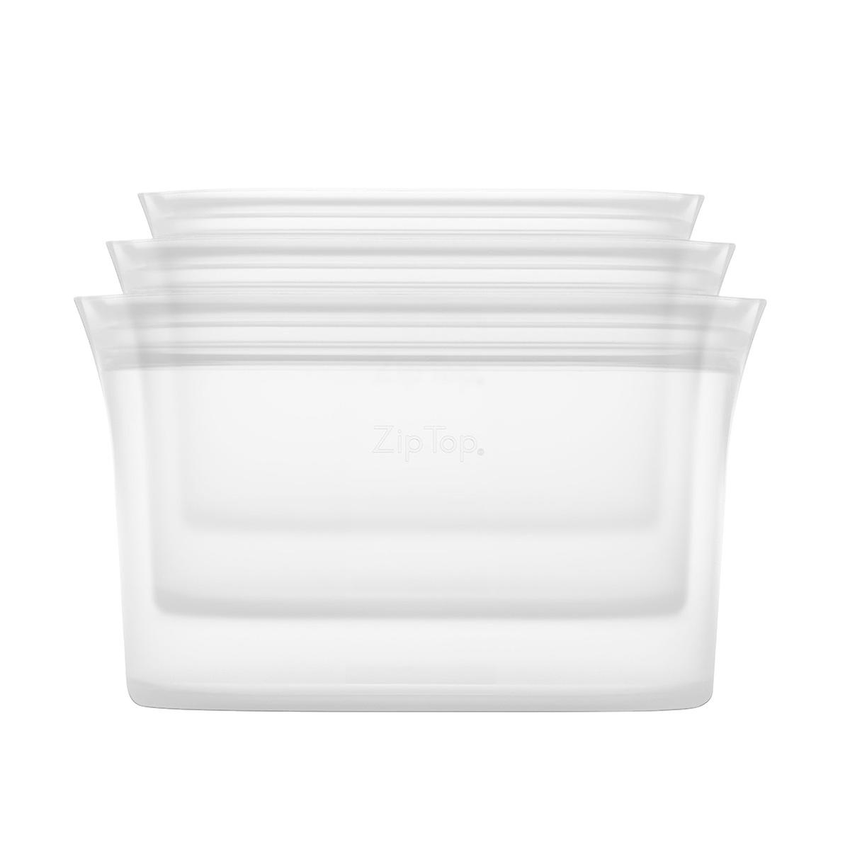 Zip Top Reusable Silicone Dish Set of 3